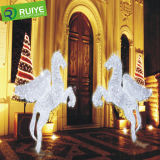 Decorazione di illuminazione del cavallo di volo dell'indicatore luminoso di motivo della decorazione di natale del LED grande