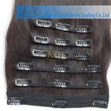 Clip gris natural del color 360 en la extensión del pelo