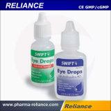 Gotas de ojo plásticas esterilizadas de la botella que llenan y empaquetadora