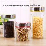 Freies Beispielsammelbehälter-Glasspeicher-Glas-Nahrungsmittelspeicher-Glas mit Metallkappe