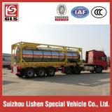 40 FT-Behälter-halb Schlussteilchemischer flüssiger Oxidizer Alluminum Legierungs-Förderwagen-Schlussteil