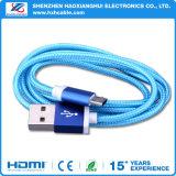 마이크로 USB 비용을 부과 끈목 USB 케이블을%s 공장 가격