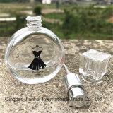 De ronde Zwarte Fles van het Glas van de Rok voor Parfum en Schoonheidsmiddel