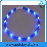 Acessório de cão de estimação, o LED da coleira de pilhas recarregáveis (HP-111)