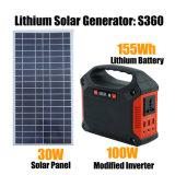 재충전용 리튬 건전지를 가진 100W 작은 휴대용 태양 발전기