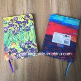 Настраиваемые цветной печати фиолетового цвета кожи ноутбук мягкой кожи Журнал Дневника ноутбук с губкой