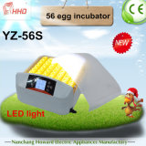 LED Light Hhd Automatic Chicken Egg Incubator für Hatching (YZ-56S)