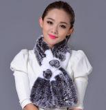 Женщины фасонируют длинний шарф шерсти кролика Rex (YKY4397)