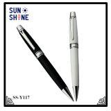Crayon lecteur capacitif noir et blanc en métal de stylo bille en métal