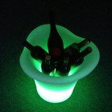 Seau à glace lumineux à LED, ardent et conteneur de la batterie