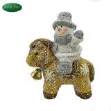 Decoración de Navidad muñeco de nieve de cerámica de la Figurilla Hípica
