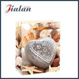 Papier d'art 128GSM en forme de coeur Sac en papier à cadeau en bois en forme de coeur