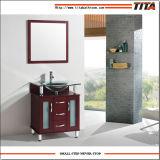 Mobilier de salle de bain en bois massif en verre trempé 2016 T9142c