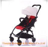 El tubo de aleación Aluminun cochecito de bebé con ruedas de PU
