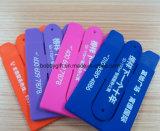 Suporte de cartão pegajoso da identificação do telefone móvel do silicone