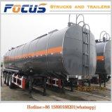 부식성 액체를 위한 반 3 차축 33000L 탄소 스테인리스 탱크 트레일러