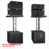 A linha grande disposição Dual áudio profissional de um concerto ao ar livre de 12 polegadas