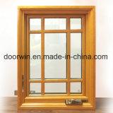 6 painéis de vidro da janela Casement com revestimento de alumínio de madeira de carvalho maciço e dobráveis a Manivela da marca Origim Americano