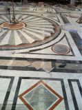大理石の石造りのタイルのウォータージェットの円形浮彫りパターン