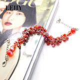 Heiße Form-Armband-Schmucksachen Silver-Tone Rot-Kristall Armband-Entwürfe für Frauen