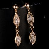 Daling van de Juwelen van Doubai van de Vrouwen van het Kristal van de legering bengelt de Gouden Oorring