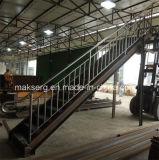 Escaleras de acero galvanizadas con las barandillas