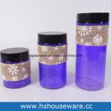 Colorfull, Verschillende Grootte, de Reeks van de Container van het Glas, de Reeks van de Kruik van het Glas