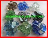 Hellbernsteinfarbige Glasedelstein-Feuer-Vertiefung