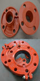 Raccord Grooved malléable 10 de bride du fer ASTM A536 '' avec la couleur orange