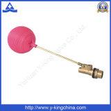 Válvula de flotador de latón de ángulo con bola de plástico de latón de vástago (YD-3016)