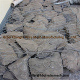 Galvanizado cinc fuertemente Gabion jaulas de rocas