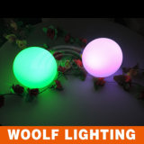 Indicatore luminoso impermeabile della sfera della plastica LED per la decorazione dell'interno ed esterna
