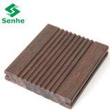 Durabale exterior carbonizada hilo tejido de pisos de bambú)