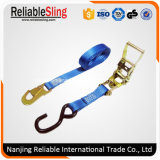 Ce European Type Polyester Cargo Lashing Belt with Ratchet