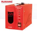 2kVA 220V Bildschirm-Relais-Typ Wechselstrom-LCD einphasig-vollautomatisches Spannungs-Leitwerk/Regler