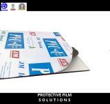 フロスティングアルミニウムドアのための極度の高い粘着性の保護フィルム