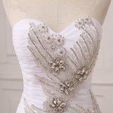 Новейшие милая шарик платье рельефная белая тюль устраивающих свадьбу Gowns