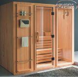 Prix de gros 4 à 6 personnes Finlande Salle de sauna en bois Salle de sauna à vapeur portable
