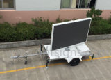 Acoplado montado haciendo publicidad pantalla móvil video al aire libre del móvil de la tablilla de anuncios de las muestras de la pequeña LED