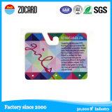 カスタム整形パーホレーションのプラスチックによって型抜きされるPVCカード