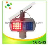 Lumière de clignotement de la lumière du signal de circulation solaire Lumière de signalisation de trafic Strobe
