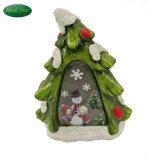 Árbol de navidad artificial de artesanía de cerámica decoración del árbol de Navidad
