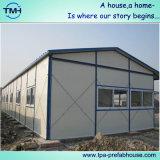Casa con marco de acero prefabricada para la vida temporal