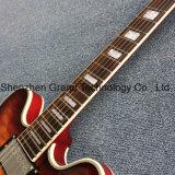 Flammé Maple haut Double F-Trou 355 Jazz guitare électrique (TJ-300)