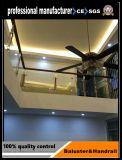 Le titane et le satin terminent des piliers de pêche à la traîne d'escalier d'acier inoxydable