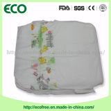 Une couche-culotte blanche bon marché de bébé de Backsheet de PE de pente