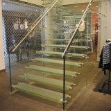 10мм Ultra Clear закаленного слоистого стекла для лестницы