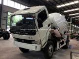 Yuejin 4X2 구체 믹서 트럭 4 M3 교반기 트럭