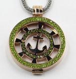 De hete het Verkopen Juwelen van de Tegenhanger van het Medaillon van het Roestvrij staal van de Manier 316L met bedekken Stenen