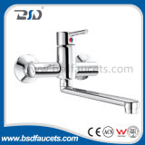 Кром Brass Wall Mounted Sink Mixer Faucet для Kitchen